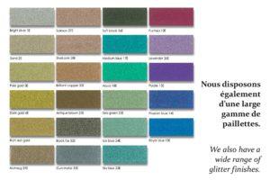Nuancier couleurs - Watergame Company