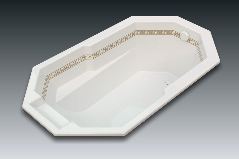 Baignoire de forme sp ciale genova 165x90cm watergame for Hauteur baignoire encastrable