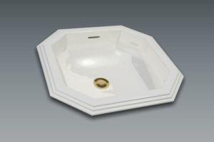 Vasque octogonale 47x45cm