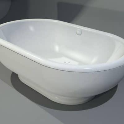 baignoire ovale de luxe