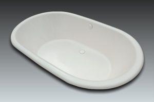 baignoire ovale 2 places