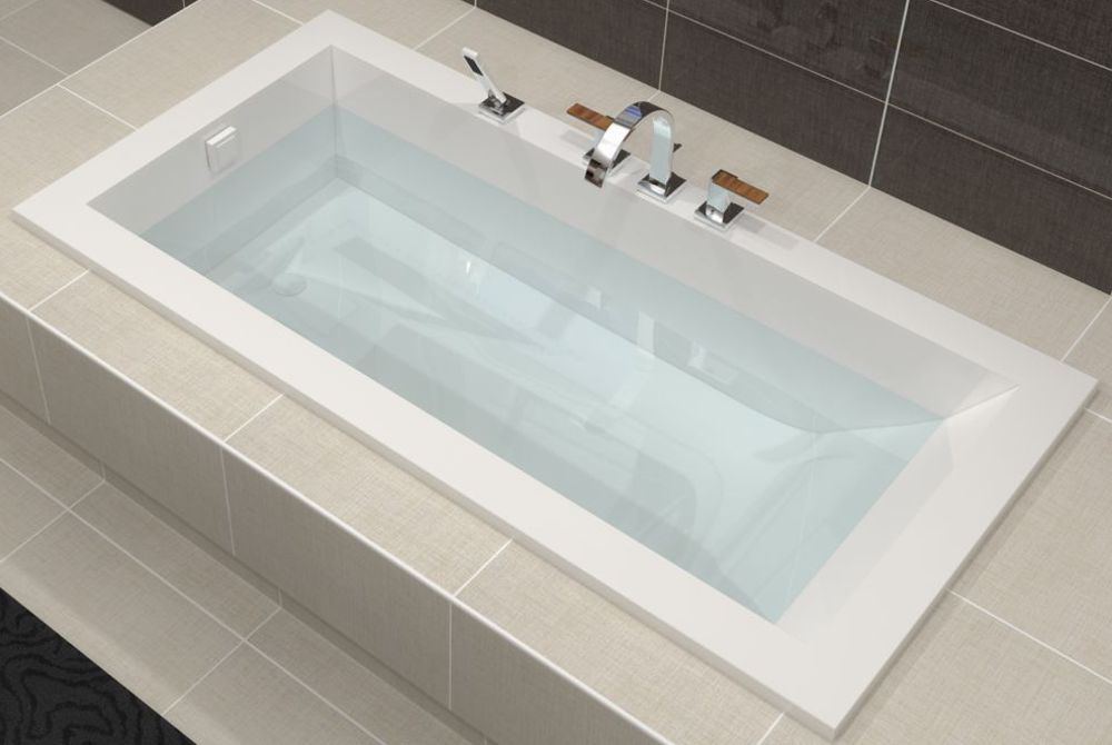Baignoire contemporaine encastrable basic line 180x90cm for Baignoire non encastrable