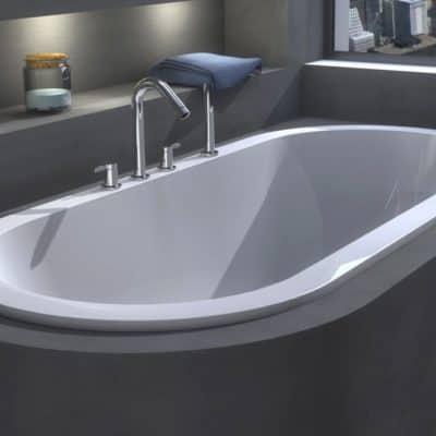 baignoire ovale moderne