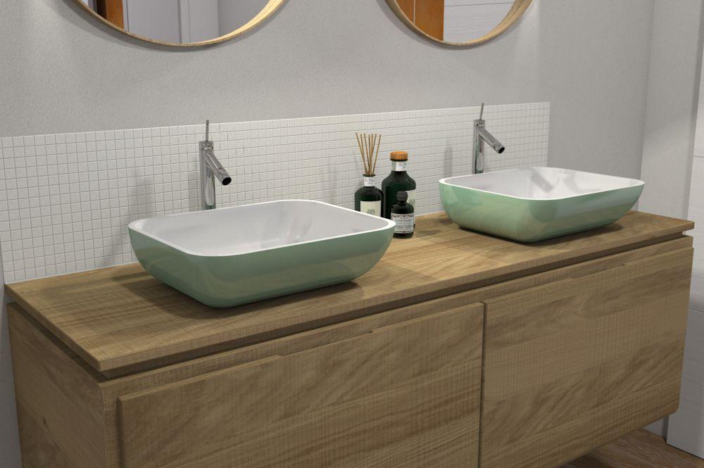 vasque à poser - sanitaire décoré