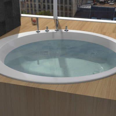 baignoire ronde de luxe 180cm