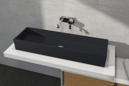 vasque rectangulaire à poser 100x30cm
