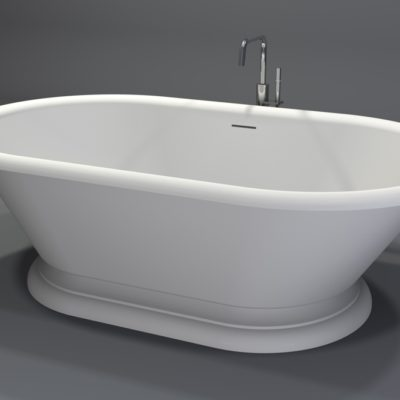 baignoire rétro moderne