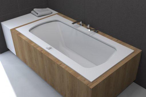 baignoire à débordement encastrable